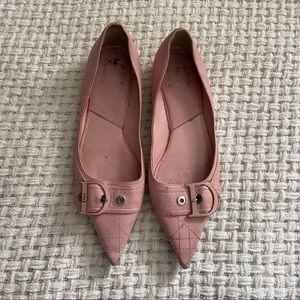 Vintage Pink Dior Flats